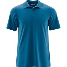 Maier Sports Ulrich Poloshirt Heren, blue sapphire